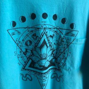 Unisex Lotus Zodiac and Celestial Graphic Tee